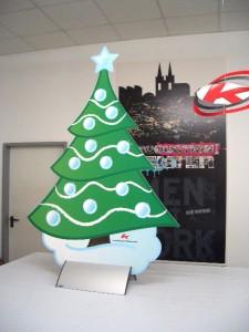 Weihnachtsbäume mit Plattenhalter