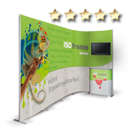 ISOframe wave - der mobile Messestand